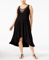 NY Collection Plus Size Embellished High-Low Dress
