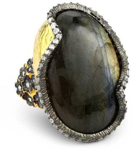 "Azaara Hot Rocks"" Labradorite Edge Ring"