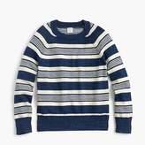 J.Crew Boys' cotton striped crewneck sweater