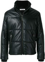 Dirk Bikkembergs padded leather jacket