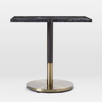 west elm Black Marble Rectangular Bistro Table - Orbit Base