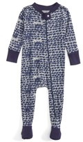 Infant Boy's Burt's Bees Baby Star Cluster Organic Cotton Fitted One-Piece Pajamas