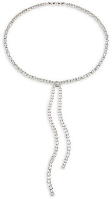 Fallon Draped Cubic Zirconia Baguette Lariat Necklace