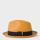 Paul Smith Men's Mustard Straw Panama Hat