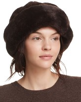 Surell Shearling Sheepskin Snowball Hat
