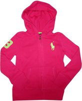 Polo Ralph Lauren Girls's Big Pony Hooded Sweat Jacket Hoodie