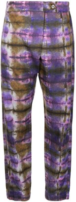 Raquel Allegra Abstract Print Straight-Fit Trousers
