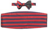 Brooks Brothers The Social Primer Reversible Bow Tie with Cummerbund