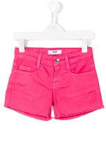 MSGM frayed hem denim shorts - kids - Cotton/Spandex/Elastane - 6 yrs