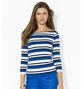 Lauren Ralph Lauren Striped Cotton Boatneck Top
