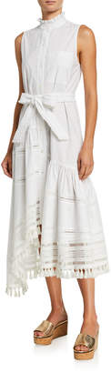 Derek Lam 10 Crosby Nerioa Lace-Inset Maxi Dress