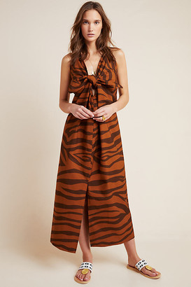 Mara Hoffman Tiger Cover-Up Dress By in Brown Size M