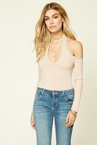 Forever 21 FOREVER 21+ Ribbed Knit Halter Top
