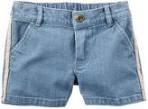 Carter's Side-Stripe Denim Shorts