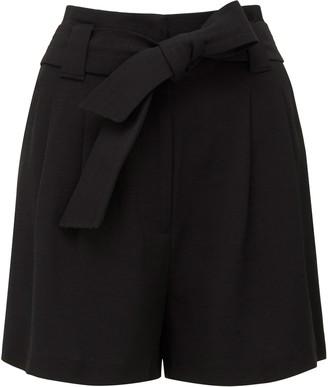 Forever New Natalia Tie Waist Shorts - Black - 6