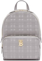 Burberry quilted logo plaque backpack
