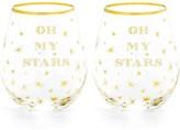 Draper James Stemless Wine Glass Set