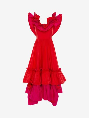 Alexander McQueen Silk Taffeta Evening Dress
