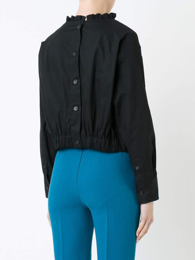 Atlantique Ascoli ruffle collar blouse