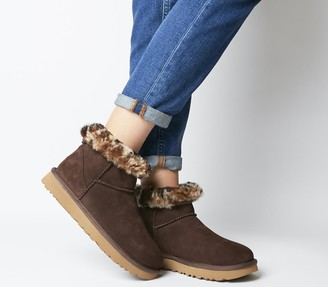 UGG Classic Mini Leopard Boots Chocolate Exclusive