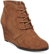 American Rag Baylie Lace-Up Wedge Booties, Only at Macy's