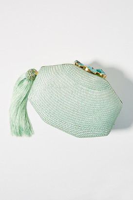 Rafe Sofia Woven Clutch By in Mint Size ALL