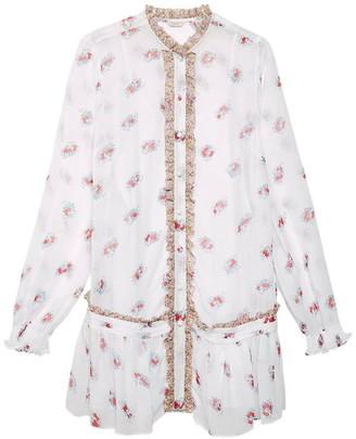 Jack Wills Orchard Floral Dropped Waist Shirt Dress