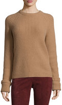 Joseph Lux Ribbed Cashmere Sweater, Camel