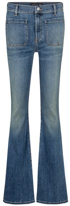 Veronica Beard Florence high-rise flared jeans