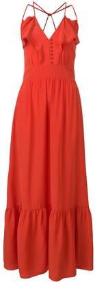 Vanessa Bruno ruffle trim maxi dress