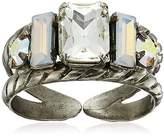 Sorrelli White Bridal Petite Geo Adjustable Ring