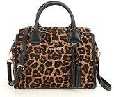 MICHAEL Michael Kors Geneva Tasseled Leopard-Print Haircalf Large Satchel