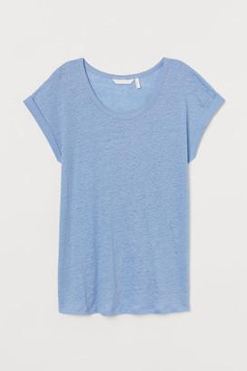 H&M MAMA Linen T-shirt