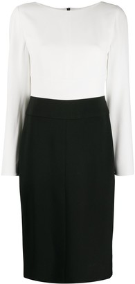 Emporio Armani Zipped Two-Tone Dress
