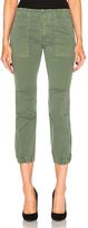 Nili Lotan Cropped Military Pant in Green.