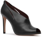 Reiss Women's Dalida Leather Peep Toe Booties