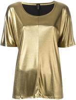 Alexandre Vauthier metallic effect T-shirt - women - Polyamide/Acetate - 3