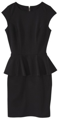 Mossimo Women's Peplum Dress -Black