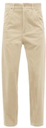 Haider Ackermann Docker Straight-leg Corduroy Trousers - Beige