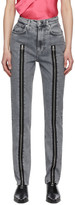 Helmut Lang Grey Zippered Femme Hi Spikes Jeans