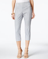 Alfani Printed Pull-On Capri Pants, Only at Macy's