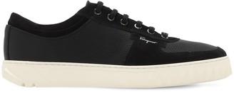 Salvatore Ferragamo Scuby Leather & Suede Sneakers