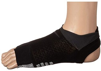 Nike Studio Toeless Footie (Black/Anthracite) Women's Crew Cut Socks Shoes