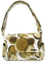 Trend Lab Messenger Bag Style Diaper Bag, Bubbles Brown by