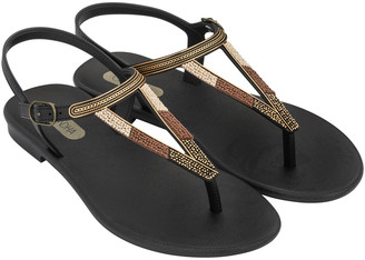 Luxury Bubble - Black Rustic Sandal - 35-36