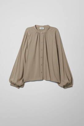 Weekday Esme Blouse - Green