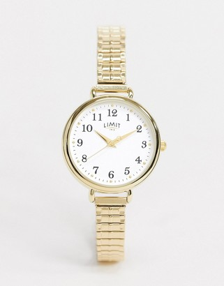 Limit expandable watch in gold