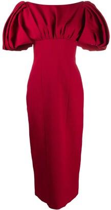 Emilia Wickstead Petunia puffed-shoulder dress