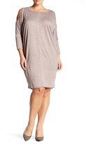 Bobeau Cocoon French Terry Dress (Plus Size)