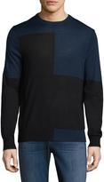 Toscano Men's Colorblock Merino Wool Sweater